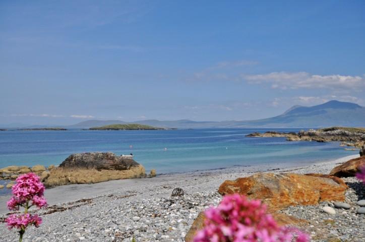The pebble beach at Renvyle House Hotel & Resort