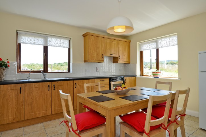 The Kitchen of the holiday lodges at Renvyle House